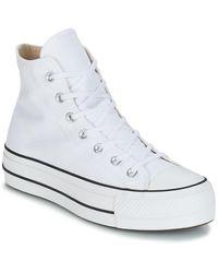 Converse Chuck taylor all star - Baskets montantes avec logo oversize - Blanc