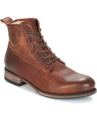 Blackstone Boots MID LACE UP BOOT FUR - Marron