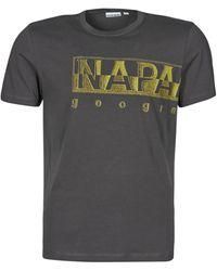 Napapijri SALLAR LOGO T-shirt - Gris