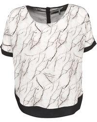 Naf Naf - LARBRE femmes T-shirt en blanc - Lyst