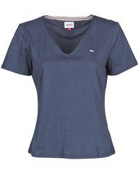 Tommy Hilfiger T-shirt TJW SLIM JERSEY V NECK - Bleu