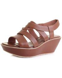 Camper - Damas T-strap Sandal Wedge Sandal - Lyst