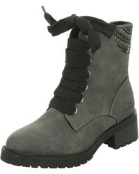 Wo Lace up Boots Grey Da. stiefel 1 1 25101 28324 324
