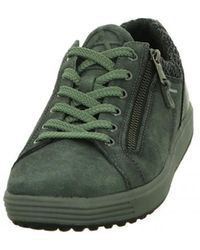Mephisto Wo Trainers Grey Ivy Nub Madrigal - Green