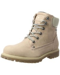 Tom Tailor Wo Lace-up Boots Beige 3790101 Nude - Natural