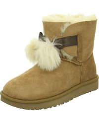 UGG Wo Winter Boots Brown Chesnut Nubuk/lammfell 1018517 Gita