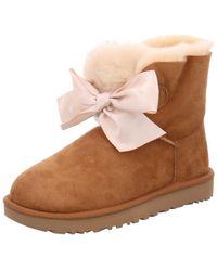 5553cd4eafa Wo Winter Boots Brown Chestnut 1098360 Gita Bow Mini