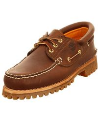 Timberland Trad Hs 3 Eye Lug Br Brown Men's Loafers Casual