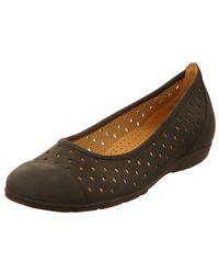 Gabor Ballerina Shoes - Brown