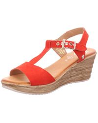 Black Wedges - Red