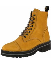 Paul Green Lace-up Boots - Yellow