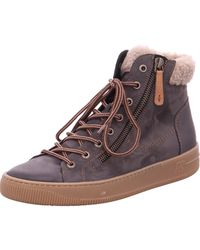 Paul Green Lace-up Boots Grey