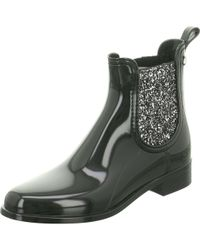 Le Coq Sportif - Wo Chelsea Boot Black Black Gummi/strass - Lyst
