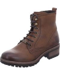 Black Lace-up Boots - Brown