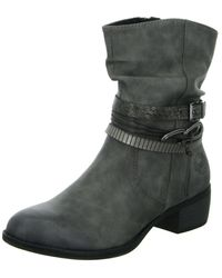 Marco Tozzi Ankle Boots Grey Schlupf/rv-st.gl.bod