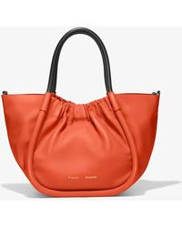 Proenza Schouler Small Ruched Crossbody Tote In Tangerine Tango - Red