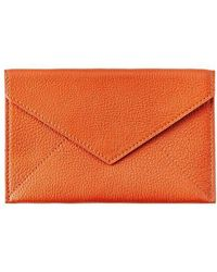 Graphic Image Orange Goatskin Envelope