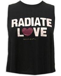 Spiritual Gangster - Radiate Love Crop Tank Vintage Black - Lyst