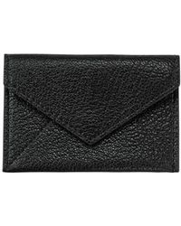 Graphic Image Black Goatskin Mini Envelope