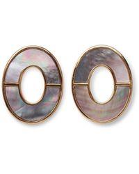 Lizzie Fortunato Symmetry Earrings In Iridescent - Metallic