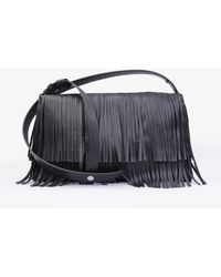 Simon Miller Vegan Puffin Bag In Black Fringe
