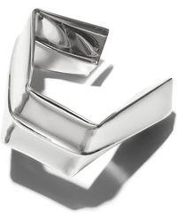 Proenza Schouler - Rhodium Large Square Bracelet - Lyst