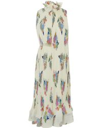 Tibi - Pleated Camellia Sleeveless Dress With Removable Belt - Lyst