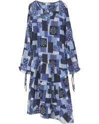 By Malene Birger Amily Airy Cotton Patch Dress - Blue