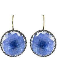 Larkspur & Hawk Azure Foil Olivia Button Earrings - Metallic