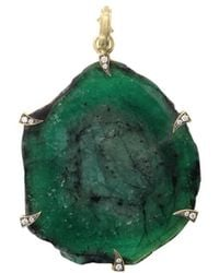 Sylva & Cie Emerald Slice Pendant - Green