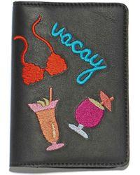 Lizzie Fortunato - Black Vacay Passport Case - Lyst