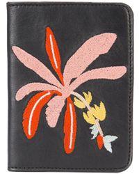 Lizzie Fortunato - Black 'banana Tree' Passport Case - Lyst