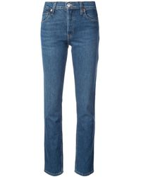 RE/DONE - The Crawford High-rise Straight-leg Jeans - Lyst