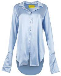 Marques'Almeida Pajama Blouse Light Blue