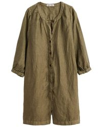 Alex Mill Linen Playsuit In Olive - Green