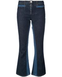Courreges - Blue Cropped Flare Jean - Lyst