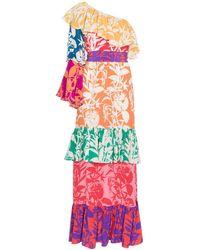 Borgo De Nor - Penelope Floral Print Silk Dress - Lyst