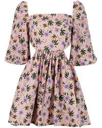 LHD Copacabana Dress Passion Floral Peach - Multicolor