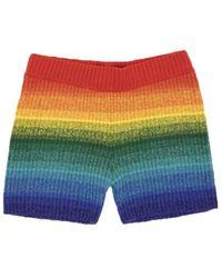 The Elder Statesman Morph Stripe Bike Shorts - Multicolor