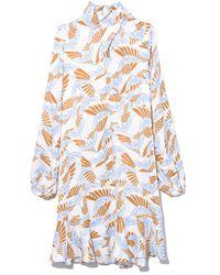 Rodebjer Klement Bird Dress In Ecru - Multicolor