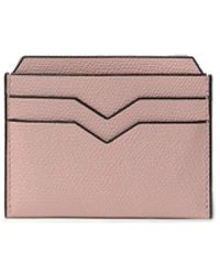 Valextra Card Case In Dusty Pink
