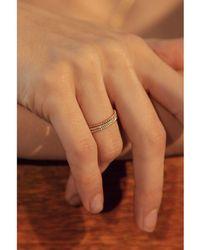 Otiumberg Twist Ring In Rose Gold - Metallic
