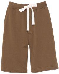 Tibi Sweatshirt Short In Loden - Brown