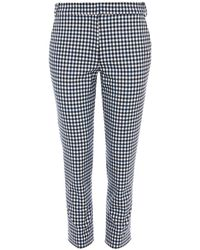 Tibi - Multicolor Gingham Beatle Cropped Pants - Lyst