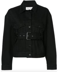 Proenza Schouler Black Belted Denim Jacket