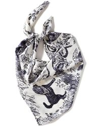 Olivia Wendel - Forest Creatures Lg Scarf - Lyst