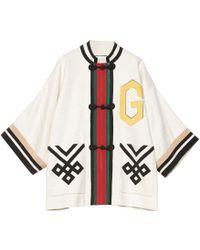 Gucci Chinese Oversized Coat - White