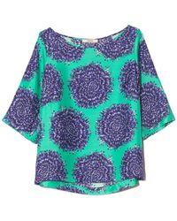 ODEEH Half Sleeve Shirt In Caribbean Green - Multicolor