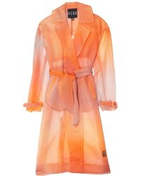 VEDA Dos Organza Trench In Sunset Ombre - Orange