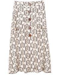 La Prestic Ouiston Camille Skirt In Corbeville Noir - Multicolor